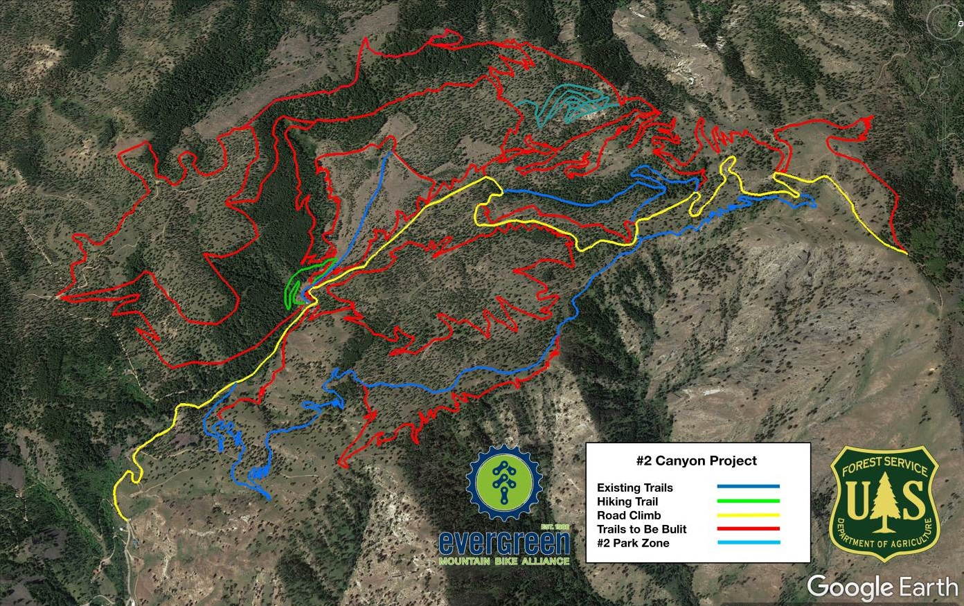 Number 2 Canyon Map