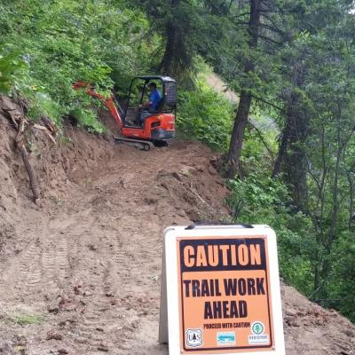 Uphill Trail Construction